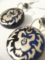 WoW Alliance Earrings Design 2 by Erisana