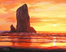 Oregon Sunset by artsaus