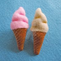 Ice Cream brooches by Mimi-Mushroom