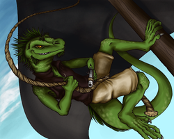 PIRATE LIZARD! by Mserene