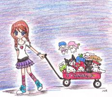 Wagon of Cuteness: Sanrio by jcrpurple417