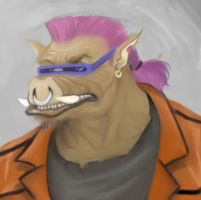 TMNT-Bebop wip paint by thedarkcloak