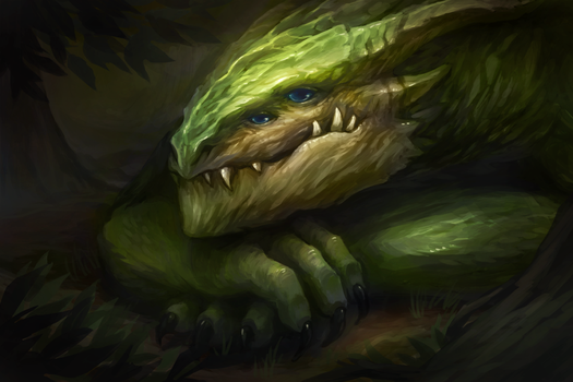 Forest wyrm by Nepharus
