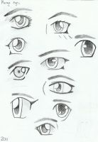 Manga Eyes by QueenJellybeany