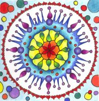 Carnival Bubbles Mandala by ChaoticatCreations