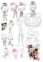 _.IZ sketch dump of what._ by Metros2soul