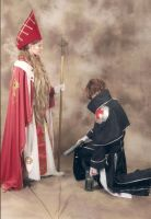 Otakon 2012 - The Cardinal and Her Liege by FadingNoctis