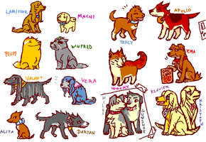 tegaki PW4 dogs Chara spoilers by emlan