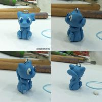 Shiny Mew Charm by ChibiSilverWings