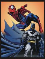 batman and spiderman by mikemaluk