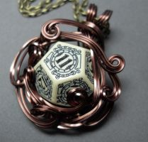 Die Steampunk Middle Earth Inspired Necklace by sojourncuriosities