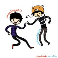 Amazingphil and Danisnotonfire (colored) by atomickelsey
