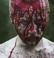 bloody face by lafaette
