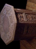 Carved wooden table 04 by barefootliam-stock