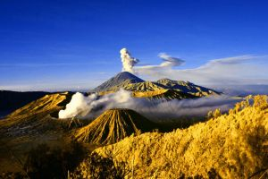 Bromo on Blue and Yellow by iwaniga