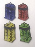 Kawaii TARDIS mini magnet set by Lovelyruthie