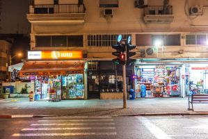 night at Tel Aviv by Rikitza