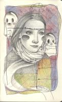 Traveling with ghosts by LadyOrlandoArt