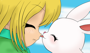 bunny lick by TheLocked