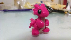 Pink Baby Dragon by solazora