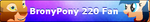 MLP Fan Button BronyPony 220 by ShootingStarYT
