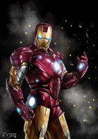 Iron Man by SamDenmarkArt
