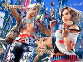 FFXII Vaan+Ashe Wallpaper by Nightwulff