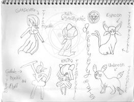 Pokemon Sketches 1 by bassmegapokemonlover
