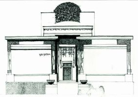 Secession Haus Sketch by killabee