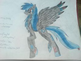 MLP:FIM OC - Blackaut Star by DrawingSnow66