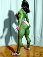 She Hulk Sweat and Pose by rosepab