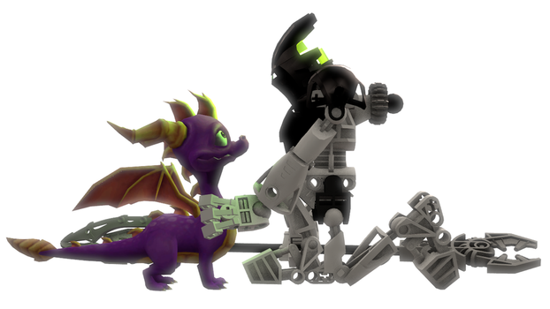 TFF Legends - Spyro and Takanuva by MechaAshura20
