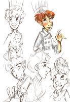 Ratatouille doodles by sharkie19