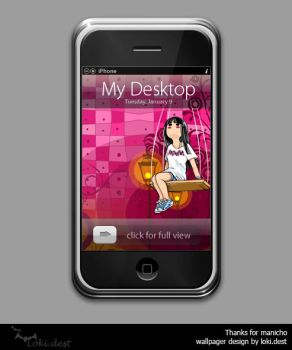iphone wallpager - pink by lokidest