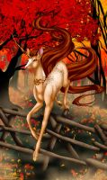 Tarot Unicornis - The Queen of Staves by The13thBlackCat