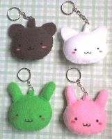 cute animals keychains by VioletLunchell
