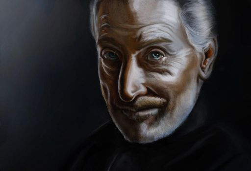 Portrait of Charles Dance as Tywin Lannister by songe-creux