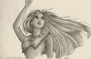 Pocahontas Sketch by glimpen