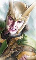 Tom Hiddleston as Loki by earache-J