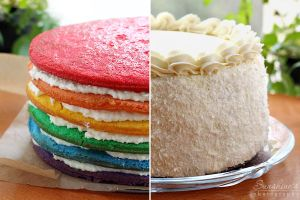 Rainbow coconut cake by kupenska