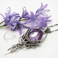LIRNAELTH silver and zirconia by LUNARIEEN