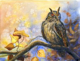 Autumn owl by JoaRosa