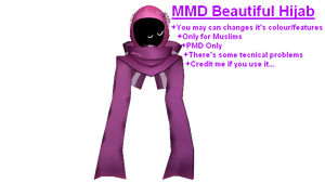 MMD_Beautiful Hijab (+DL) UPDATED! by FatinFantine