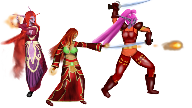 ILP Banner WIP characters by Saxsy