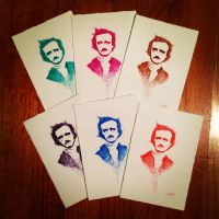 Edgar Allan Poe-stcards in Color! by LordColinOneal