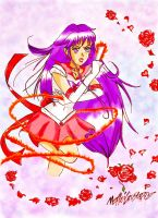 sailor mars fan art con sfondo by Dream-Catcher-88