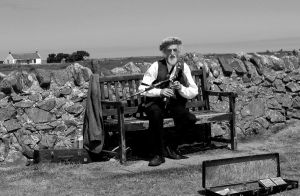 Old man with Bagpipe by PearlsAndBeauty