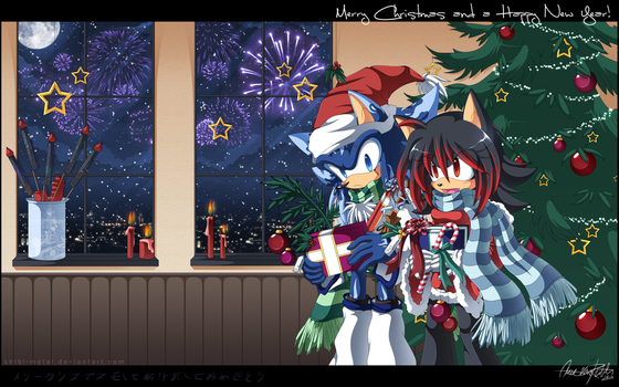 Merry Christmas 2008 by Chibi-Nuffie