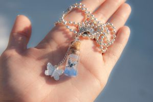 Enchanted Butterfly Necklace by IvrinielsArtNCosplay
