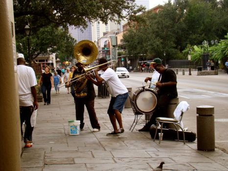 Cafe Dumonde Street Band by Phido-the-flareon